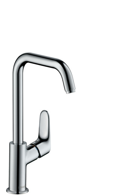 FOCUS SINGLE LEVER BASIN MIXER 240 WITH SWIVEL SPOUT AND POP-UP WASTE SET