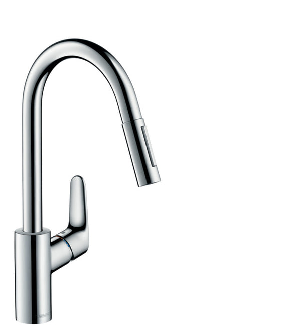 FOCUS M41 SINGLE LEVER KITCHEN MIXER 240, PULL-OUT SPRAY, 2JET