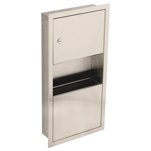 COMMERCIAL TOWEL DISPENSER AND WASTE RECEPTACLE