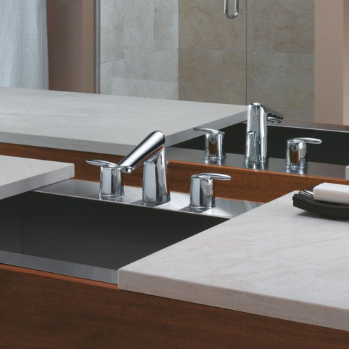 GRAIL- TWO HANDLE WIDESPREAD BATHROOM - STICK HANDLE INCLUDES POP-UP - DELEX VALVE
