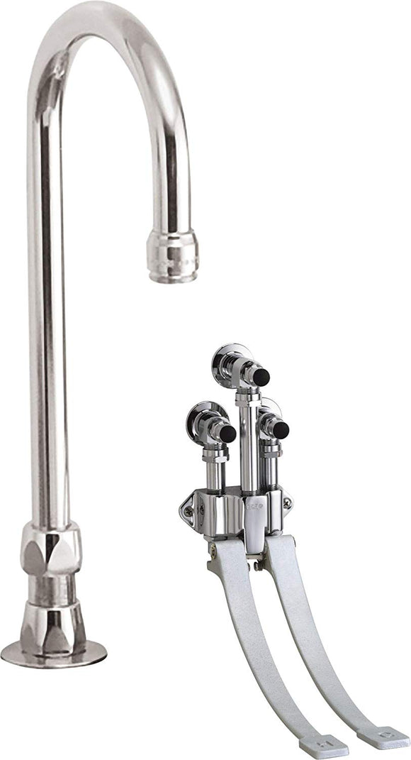 COMMERCIAL WALL MOUNT DOUBLE-PEDAL SURGEONS SCRUB-UP