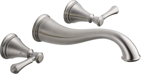 CASSIDY TWO HANDLE WALL MOUNT LAVATORY FAUCET