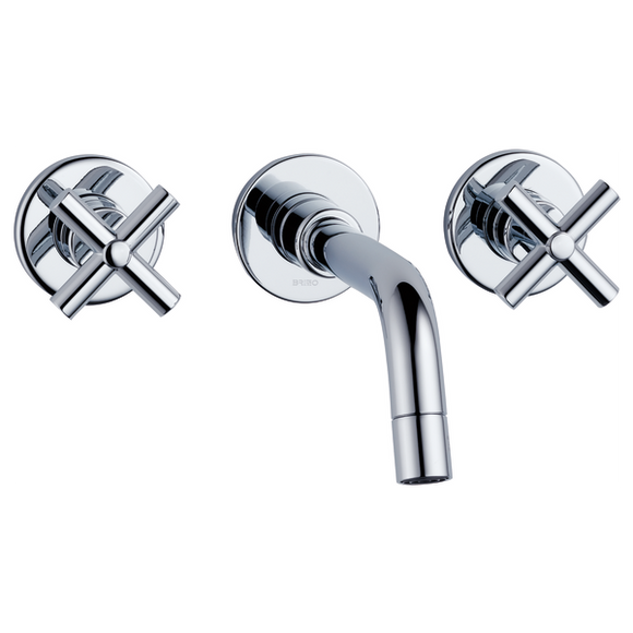 TREVI BRIZO TWO HANDLE WALL-MOUNT KITCHEN FAUCET .