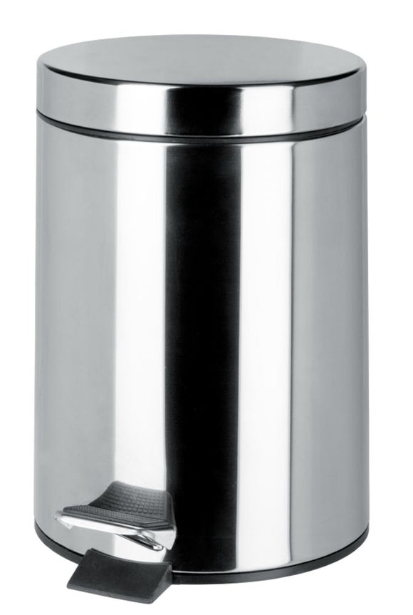 PEDAL BIN 12LTS. CHROME FINISH