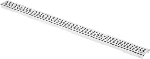 DRAINLINE DESIGN GRATE ORGANIC POLISHED OR BRUSHED STAINLESS STEEL FOR SHOWER CHANNEL, STRAIGHT