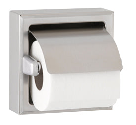 SURFACE- MOUNTED TOILET TISSUE DISPENSER WITH HOOD