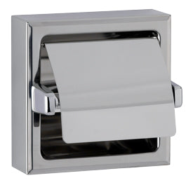 SURFACE-MOUNTED TOILET TISSUE DISPENSER WITH HOOD