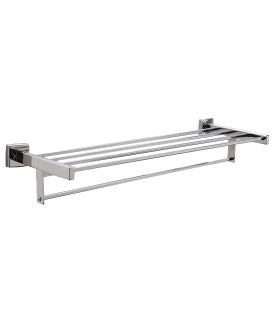 SURFACE-MOUNTED TOWEL SHELF WITH TOWEL BAR