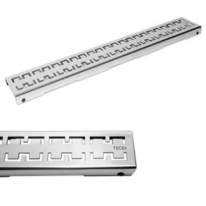 DRAINLINE DESIGN GRATE ROYAL POLISHED OR BRUSHED STAINLESS STEEL FOR SHOWER CHANNEL, STRAIGHT L80CM