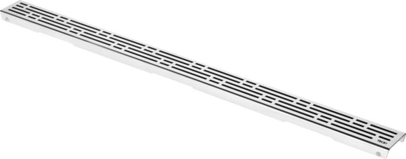 TECE DRAINLINE DESIGN GRATE BASIC FOR DRAIN, STRAIGHT BRUSHED STAINLESS STEEL, L: 80 CM
