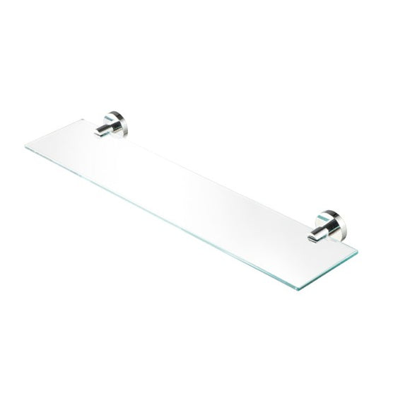 NEMOX- SHELF HOLDER CHROME WITH GLASS 58CM.
