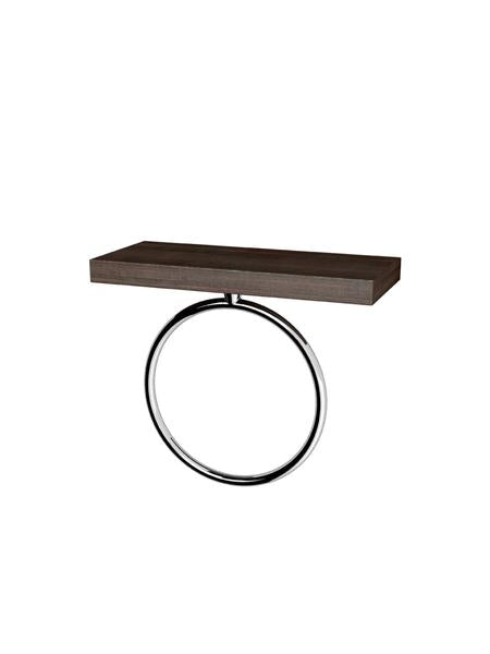 HAIKU- TOWEL RING CHROME WITH WOOD VENEER