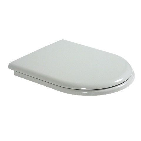 TOILET SEAT AND COVER FOR HAPPY D, WHITE FINISH