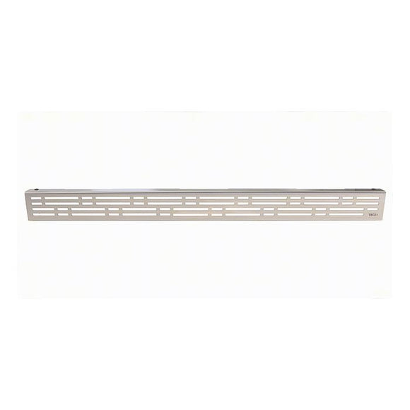 DRAINLINE DESIGN GRATE BASIC POLISHED OR BRUSHED STAINLESS STEEL FOR SHOWER CHANNEL, STRAIGHT
