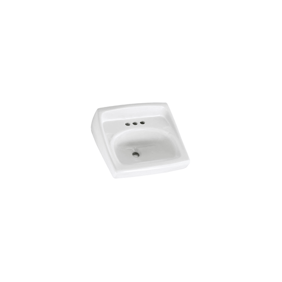 LUCERNE 20-1/2 IN WALL MOUNTED PORCELAIN BATHROOM- SINK