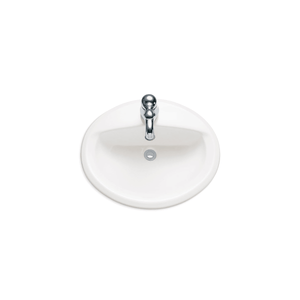 AQUALYN 20-3/8 IN DROP IN PORCELAIN BATHROOM SINK