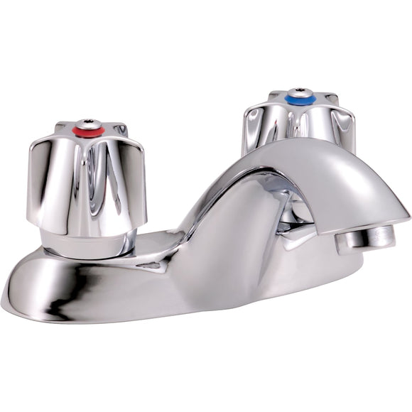 COMMERCIAL DOUBLE HANDLE 1.5GPM BATHROOM FAUCET WITH SELF-CLOSING