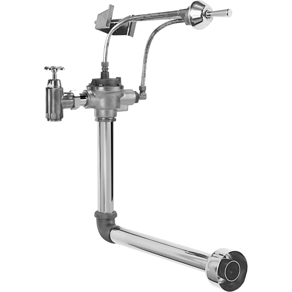 COMMERCIAL  FLUSH VALVE WITH OSCILLATING HANDLE ACTIVATION