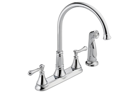 TWO HANDLE MIXER KITCHEN FAUCET LESS HANDLE