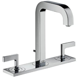 AXOR CITTERIO- 2LEV.V.HANDLE BASIN MIXER WITH P- UP WASTE,3 HOLE INS WITH PLATE,PLATINUM