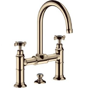 AXOR MONTREUX - CROSS HANDLE BASIN MIXER BRIDGE - 3 HOLE