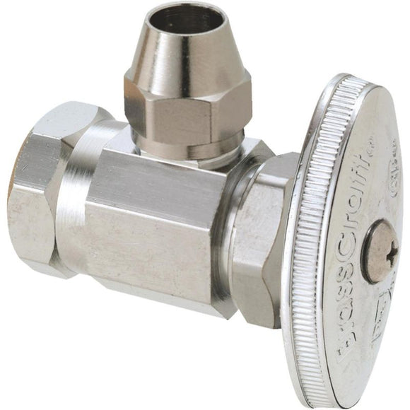ANGLE VALVE 1/2 F.I.P. X 1/2 OD FLARE WITH STUFFING BOX
