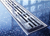 DRAINLINE DESIGN GRATE BASIC POLISHED OR BRUSHED STAINLESS STEEL FOR SHOWER CHANNEL 800MM