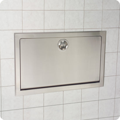 KB110-SSRE-INB HORIZONTAL RECESSED BABY CHANGING STATION - STAINLESS STEEL