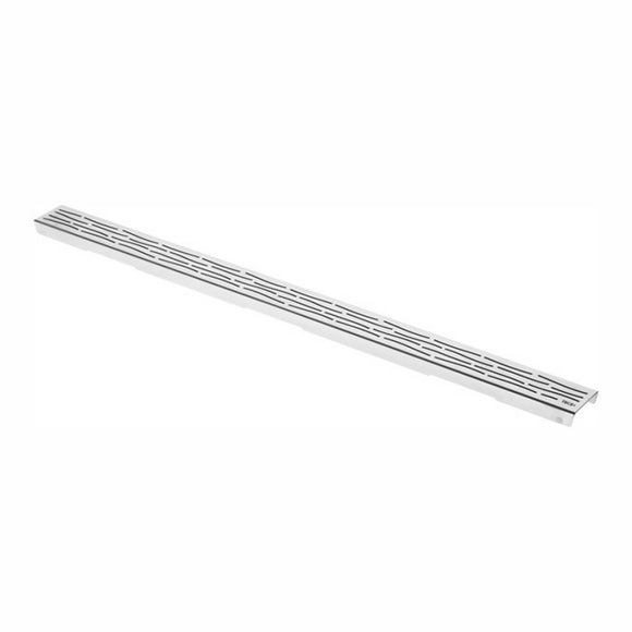 DRAINLINE DESIGN GRATE ORGANIC POLISHED OR BRUSHED STAINLESS STEEL FOR SHOWER CHANNEL, STRAIGHTL 80CM