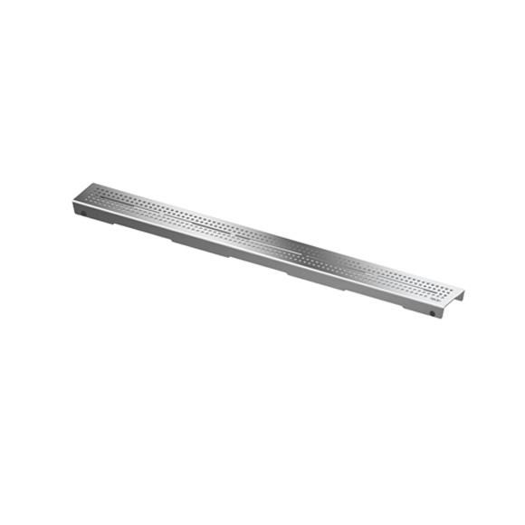 DRAINLINE DESIGN GRATE QUADRATUM POLISHED OR BRUSHED STAINLESS STEEL FOR SHOWER CHANNEL, STRAIGHT