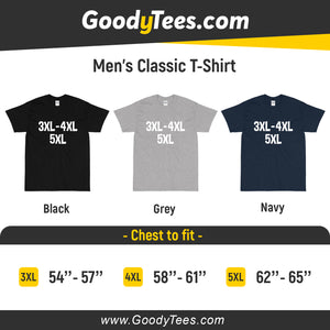 3X Large 4XL 5XL Big and Tall Plus Size Unisex Men's Classic T-Shirt