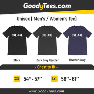 Large And Tall 3XL 4XL 5XL Plus Size Clothing For Man And Women Unisex Shirt