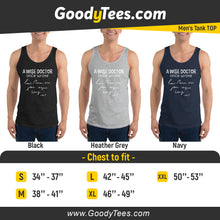 Load image into Gallery viewer, Funny Wise Doctor Handwriting Medical Graduation Men's Tank Top