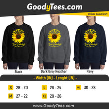 Load image into Gallery viewer, Accept Love Helianthus Plant Autistic Awareness Unisex Sweatshirt