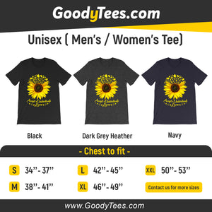Accept Understand Love Sunflower Puzzle Piece Awareness Unisex Shirt
