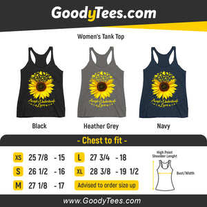Accept Understand Love Helianthus Puzzle Awareness Women's Tank Top