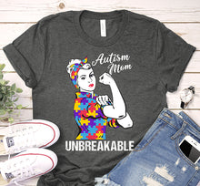 Load image into Gallery viewer, Autism Mom Unbreakable Puzzle Piece We Can Do It Awareness Shirt