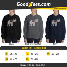 Load image into Gallery viewer, Cute Autistic Colorful Puzzle Animals Lover Support Month Unisex Sweatshirt