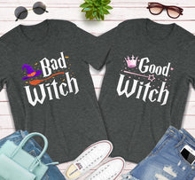 Load image into Gallery viewer, Bad Witch Good Witch BFF Best Friends Matching Halloween Shirts
