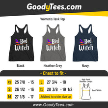 Load image into Gallery viewer, Bad Witch Hat And Broom Costume Bff Matching Women's Tank Top