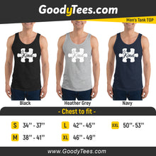 Load image into Gallery viewer, Be Kind Autism Awareness Puzzle Piece Men's Tank Top