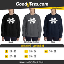 Load image into Gallery viewer, Autism Awareness Puzzle Piece Be Kind Unisex Sweatshirt