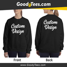 Load image into Gallery viewer, Front And Back Print Side Custom Design Unisex Sweatshirt
