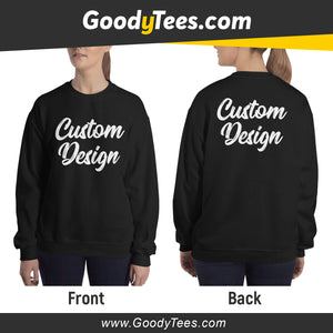 Front And Back Print Side Custom Design Unisex Sweatshirt
