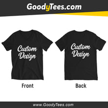 Load image into Gallery viewer, Front And Back Print Side Custom Design Unisex V-neck Shirt