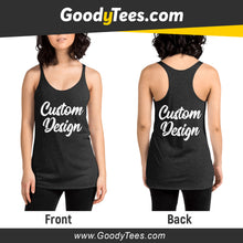 Load image into Gallery viewer, Front And Back Print Side Custom Design Women's Tank Top