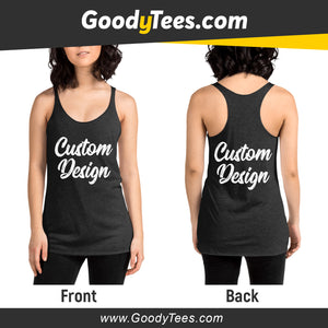 Front And Back Print Side Custom Design Women's Tank Top