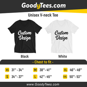 Design and customize your own Unisex V-Neck Tee Bella Canvas On Front And Back Print Sides