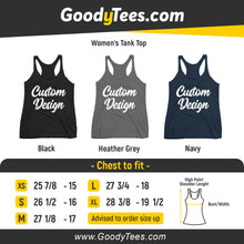 Load image into Gallery viewer, Design and customize your own Women's Racerback Tank Top Next Level On Front And Back Print Sides