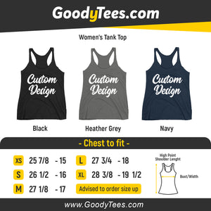 Design and customize your own Women's Racerback Tank Top Next Level On Front And Back Print Sides
